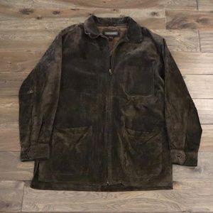 Mens Banana Republic sued leather jacket